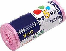 Eindickung Weste Tragbar Farbe Müllbeutel Multicolor,Pink-45*60cm