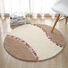 Eine idyllische runde Matten Drehstühle das Maschinenhaus mat Wohnzimmer Schlafzimmer satin Anti-Rundschreiben Wolldecke rutschen, Durchmesser 90 cm, khaki