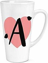 eines Herzens Alphabet 17oz groß Latte Becher Tasse