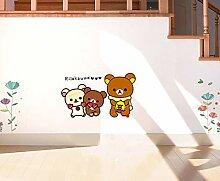 Einfach Bär Cartoon Anime Koffer Aufkleber Street