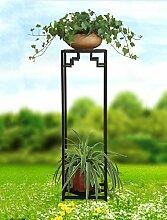 einfach Blumentopf Regal, Blütenständer, Pflanze Stand Eisen Blumenrahmen Boden - Stil Multi - Storey Töpfe Indoor und Outdoor Hanging Orchideen Regal Einfache Blumentopf Regal ( Farbe : A , größe : 79*24cm )