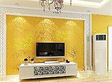 Einfach im europäischen Stil Luxus Schlafzimmer Wohnzimmer TV Hintergrund Wand Tiefenprägung Tapete Tapete, Mehrfarbig