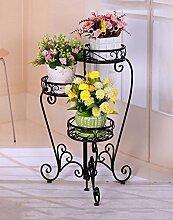 einfach Iron Folding Flower Pot Racks Multi - Storey Garten Klassische Europäische - Style Flower Racks Einfache Blumentopf Regal ( Farbe : B )