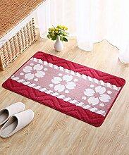 Einfach Kreativ Der Tür Teppich Schlafzimmer Bedside Teppich Wasserabsorption Rutschfeste Wohnzimmer Hall Sofa Teppich ( Farbe : C , größe : 50*80CM )
