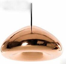 Einfach kreativ vernickelt Glas Lampe Café Bar Restaurant Treppe Kleidung Shop Kronleuchter,Bronze