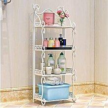 Einfach Mehrere Schichten Eisen Badezimmer Regal Landung Badezimmer Waschbecken Toiletten Küche Incorporated Lagerung weiß ( Farbe : Weiß )