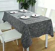 Einfach Modern Kariert Baumwolle Tischdecke Haushalt Hotel Café,Gray-47.2in*66.9in