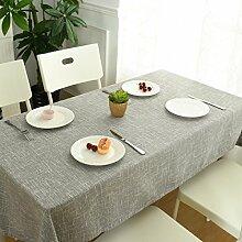 Einfach Modern Kariert Baumwolle Tischdecke Haushalt Hotel Café,CoffeeColor3-35.4in*59in