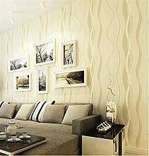 Einfach Modern vertikalen Streifen Tapete Wave Muster, Vlies Reinigungstuch Tapete Schlafzimmer Wohnzimmer Wände, beige