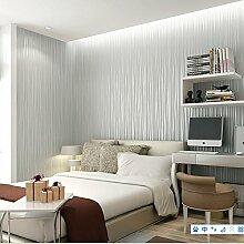 Einfach schlicht einfarbig Vliestapete moderne vertikale Streifen Tapete Wohnzimmer Schlafzimmer große Tapete , white