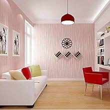 Einfach schlicht einfarbig Vliestapete moderne vertikale Streifen Tapete Wohnzimmer Schlafzimmer große Tapete , Pink