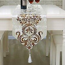 Einfach stilvolle moderne Tischl?ufer/Continental Tischdecken/Tetabellentuch/Bett-banner-D 33x250cm(13x98inch)