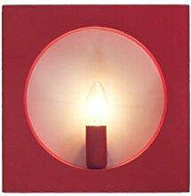 Einfach Wandleuchte Modern Rot Und Schwarz Quadratisch Kunst Kreativ Gang Schlafzimmer Wohnzimmer Studie Beleuchtung 3W,Red-Whiteligh