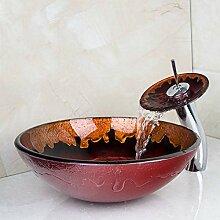 Einfach zu installieren Handgemalte Badezimmer