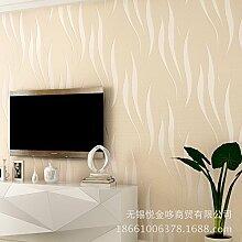Einfache 3D wallpaper Hintergrund des einfachen Wohnzimmer TV Vlies-Tapete Tapete Schlafzimmer warm volle Geschäftsdekoration , meters white