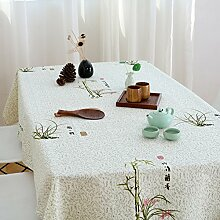 Einfache, Aber Elegante Chinesische Zhulan Stoff Tischdecke/Garten Frische Baumwolle Und Leinen Tischdecken-A 230x230cm(91x91inch)