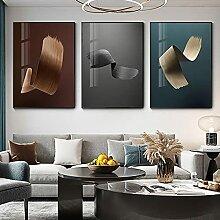 Einfache abstrakte Leinwand Druck Linie Dekoration