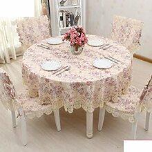 Einfache Art Und Weise Stoff Garten Tischdecke,Runder Tisch Tuch Tischdecke,Tischtuch-A 75x250cm(30x98inch)
