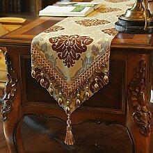 Einfache Art Und Weise Tischläufer Europäische Qualitativ Hochwertige Luxus-tischläufer Seite Kabinett Runner Tee Tischläufer Tv-läufer-A 30x220cm(12x87inch)