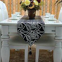 einfache Art und Weise Tischläufer/Tisch/Bett Renner/Tisch/Tischdecke decke/Tischdecke decke/Abdeckung Tuch-A 33x220cm(13x87inch)