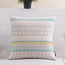einfache Baumwolle Kissen/ Retro-Baumwolle Kissen/Sofa Büro lumbalen Kissen Kissen-B 45x45cm(18x18inch)