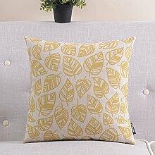 einfache Baumwolle Kissen/ Retro-Baumwolle Kissen/Sofa Büro lumbalen Kissen Kissen-D 45x45cm(18x18inch)