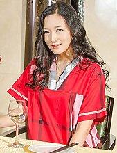 Einfache Baumwolle Männer und Frauen Kurze Hülse Superabsorbent Das Hotel hat Bademäntel Schweißdampf Service Sauna Kleidung Schnell trocknend Handtücher Badetuch Pyjama Bademantel ( farbe : D , größe : M )