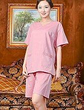 Einfache Baumwolle Männer und Frauen Kurze Hülse Superabsorbent Das Hotel hat Bademäntel Schweißdampf Service Sauna Kleidung Schnell trocknend Handtücher Badetuch Pyjama Bademantel ( farbe : A , größe : S )