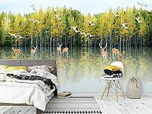 Einfache Birkenwald Sikahirsch Wohnzimmer Sofa