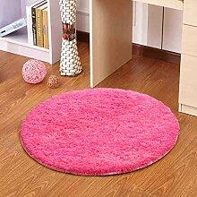 Einfache Bodenmatten Fußballen Teppich-Fußmatten Schlafzimmer Arbeitszimmer wiederum Stuhl Sitzkissen ( farbe : # 1 , größe : Diameter 160CM )