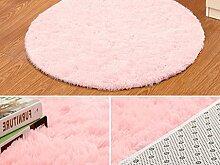 Einfache Bodenmatten Fußballen Teppich-Fußmatten Schlafzimmer Arbeitszimmer wiederum Stuhl Sitzkissen ( farbe : # 5 , größe : Diameter 80CM )