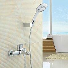 Einfache Dusche dusche Wasserhahn warmes und kaltes Bad Armatur Badewanne