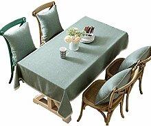 Einfache einfarbige quadratische Tischdecke