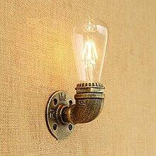 Einfache Eisen dekorative Wasserrohr Wandlampe, B.