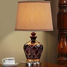 Einfache European - Style Glas Lampe Schlafzimmer Bedside Lampe American Luxus Lampe Wohnzimmer Modern Minimalistische Kreative Dekoration