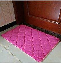 Einfache Farbe Rectangle Teppich Wasserabsorption rutschfeste Badezimmer Wohnzimmer Sofa Teppich Hall Schlafzimmer Teppich ( Farbe : D , größe : 40*60cm )