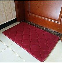 Einfache Farbe Rectangle Teppich Wasserabsorption rutschfeste Badezimmer Wohnzimmer Sofa Teppich Hall Schlafzimmer Teppich ( Farbe : A , größe : 60*90CM )