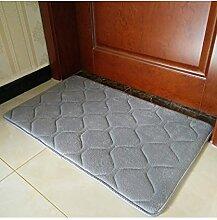 Einfache Farbe Rectangle Teppich Wasserabsorption rutschfeste Badezimmer Wohnzimmer Sofa Teppich Hall Schlafzimmer Teppich ( Farbe : C , größe : 60*160CM )