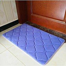 Einfache Farbe Rectangle Teppich Wasserabsorption rutschfeste Badezimmer Wohnzimmer Sofa Teppich Hall Schlafzimmer Teppich ( Farbe : B , größe : 60*120cm )