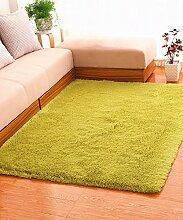 Einfache feste Farbe Teppich Wasserabsorption rutschfeste Rechteck Sofa Couchtisch Teppich Hall Wohnzimmer Schlafzimmer Teppich ( Farbe : B , größe : 120*160CM )