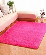 Einfache feste Farbe Teppich Wasserabsorption rutschfeste Rechteck Sofa Couchtisch Teppich Hall Wohnzimmer Schlafzimmer Teppich ( Farbe : C , größe : 100*110CM )