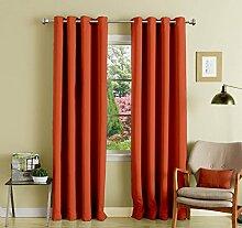 einfache feste Muster lushomes Öse fertige Vorhänge Verdunkelungs Tür / Fenster drapers 1 Stück