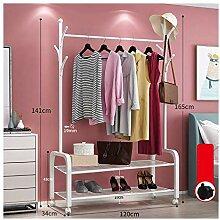 Einfache freistehende Garderoben Mobile Garderobe