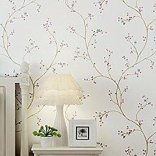 Einfache Garden Blumen, frische Vliestapete, American Retro Sterne, warm Schlafzimmer, Wohnzimmer, Film und Tapete, Wallpaper only, Purple
