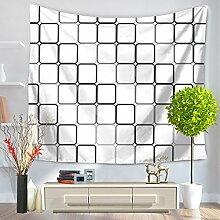 Einfache Geometrie Tapisserie 100% Polyester–memorecool Haustierhaus North Europäisches Design für alle Places Mehrzweck 149,9x 129,5cm, Polyester, geometry14, 59x79inch