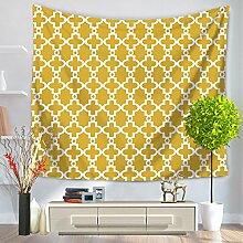 Einfache Geometrie Tapisserie 100% Polyester–memorecool Haustierhaus North Europäisches Design für alle Places Mehrzweck 149,9x 129,5cm, Polyester, geometry6, 59x79inch
