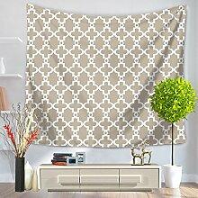 Einfache Geometrie Tapisserie 100% Polyester–memorecool Haustierhaus North Europäisches Design für alle Places Mehrzweck 149,9x 129,5cm, Polyester, geometry3, 59x51inch