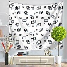 Einfache Geometrie Tapisserie 100% Polyester–memorecool Haustierhaus North Europäisches Design für alle Places Mehrzweck 149,9x 129,5cm, Polyester, geometry13, 59x51inch