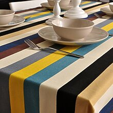 Einfache gewebe-tischtuch/tischtuch/tischtuch/tischtuch/garten-abdeckung handtuch-B 140x200cm(55x79inch)
