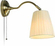 Einfache Gewebe-Wandlampe, warme